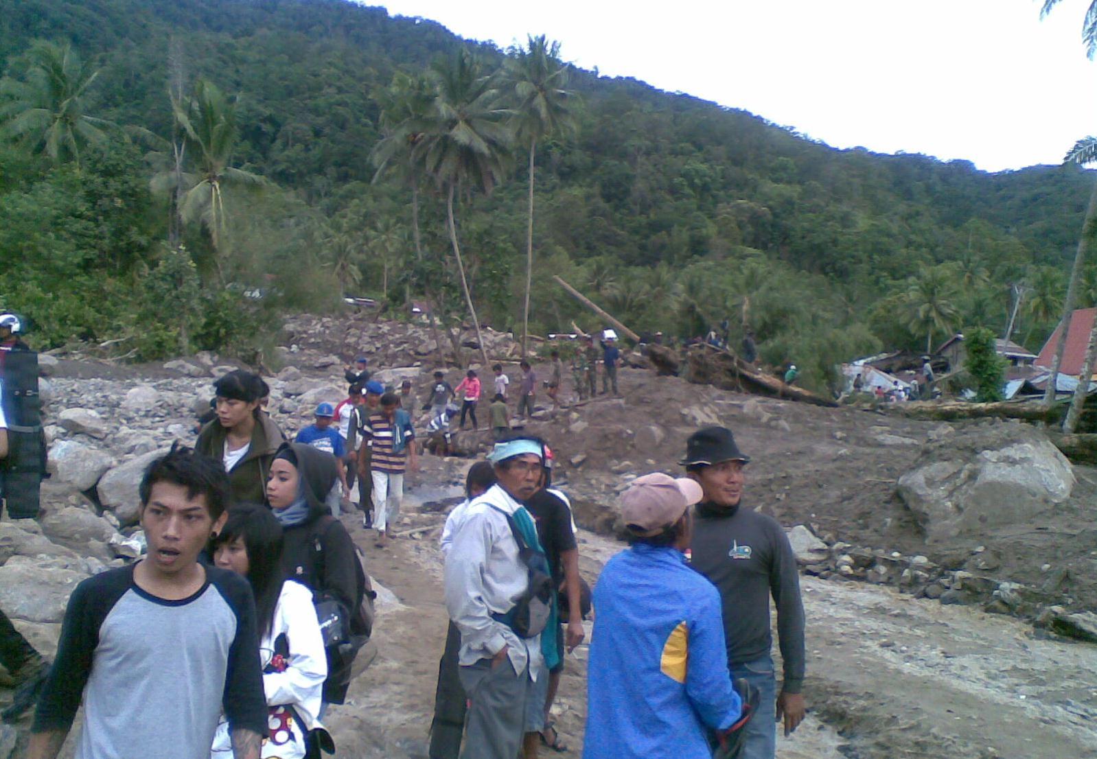 Banjir Bandang Melanda Desa di Sigi, Sulawesi Tengah
